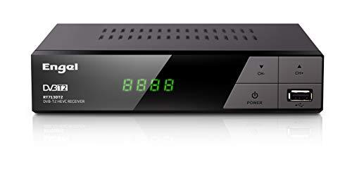 Engel Axil Receptor DVB-TD (TDT2) HD Grabador, HDMI,Función Timeshift, PVR,HEVC -Engel RT7130, Negro