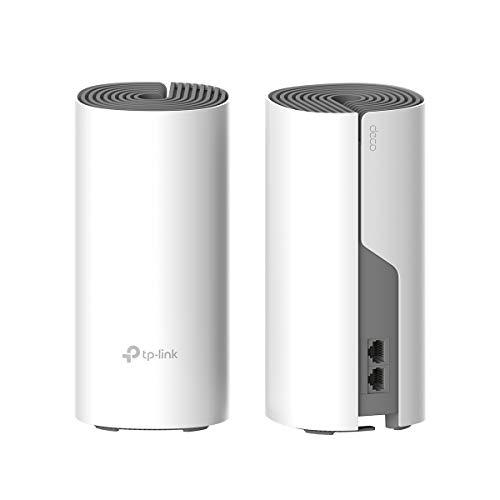 TP-Link Deco Repetidor de wifi, Super Mesh wifi smart sin interrupción AC1200 Dual-Band hasta 260 m², 2 puertos 100Mbps, hasta 100 dispositivos, Adecuado para xiaomi Mi Box, Amazon Alexa (E4-2Pack)