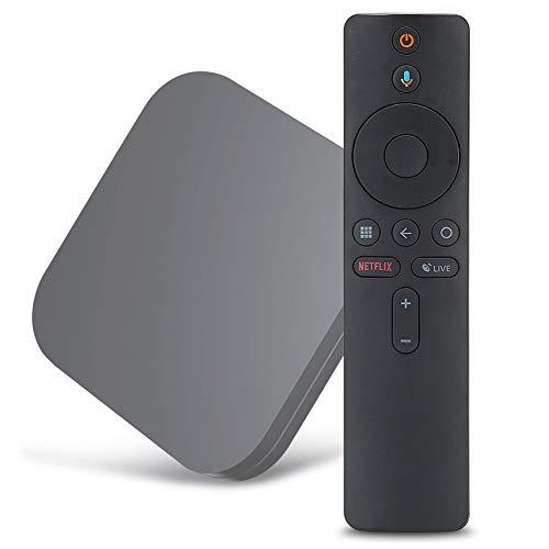 Reemplazo de Control Remoto de Voz Bluetooth Control Remoto de TV de Voz Inteligente Compatible con Xiaomi Mi Box S TV (Su Dispositivo Debe Admitir la Función de Control Remoto Por Voz Bluetooth)