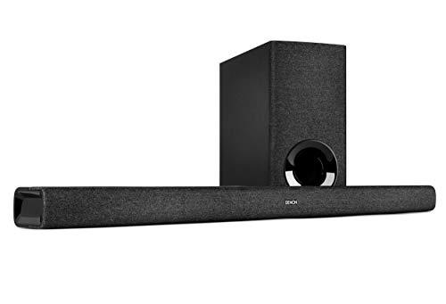 Denon Barra de Sonido DHT-S416 2.1 TV con subwoofer inalámbrico, Google Chromecast Integrado, WiFi, Bluetooth, Dolby Digital, HDMI ARC, Entrada óptica
