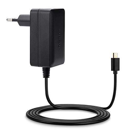 Aukru Micro USB 5V 3A Cargador Fuente alimentación para Raspberry Pi 3, Pi 2 Modelo b y Modelo B+ (B plus) ,Banana pi