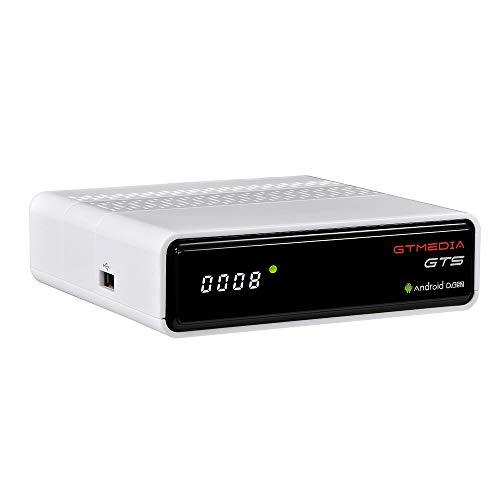 GT MEDIA GTS Decodificador Satelite 4K Android 6.0 TV Box Receptor de Satélite DVB-S/S2 Amlogic S905D 2GB RAM+8GB ROM 3D H.265 HEVC MPEG-2/4 WiFi 2.4Ghz BT 4.0 Smart TV Box