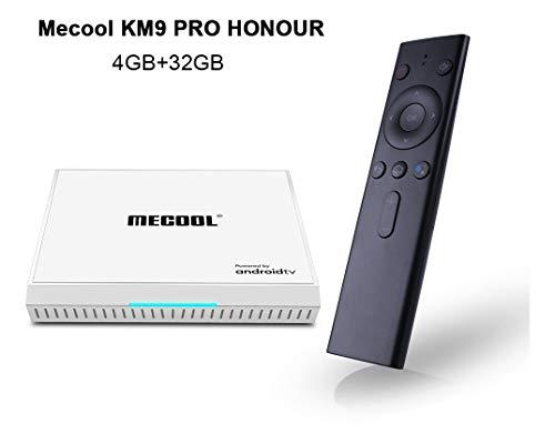 Caja Android TV MECOOL KM9PRO Honour   con Certificación De Google   Streaming 4K   Bluetooth Wi-fi   Asistente De Google con Chromecast   4GB RAM 32GB ROM   HDMI HDR