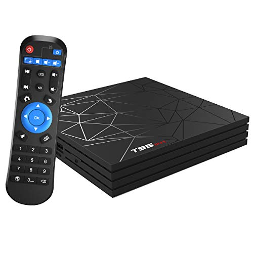 Android TV Box,T95 MAX Android 9.0 TV Box 4GB RAM/32GB ROM H6 Quad-Core Soporte 2.4Ghz WiFi 6K HDMI DLNA 3D Smart TV Box