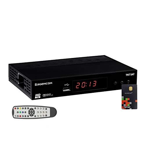 Receptor decodificador de satélite HD Astra N° 1 + tarjeta TNTSAT V6 canales TNT franceses (no se garantiza que esté disponible en todos los países)