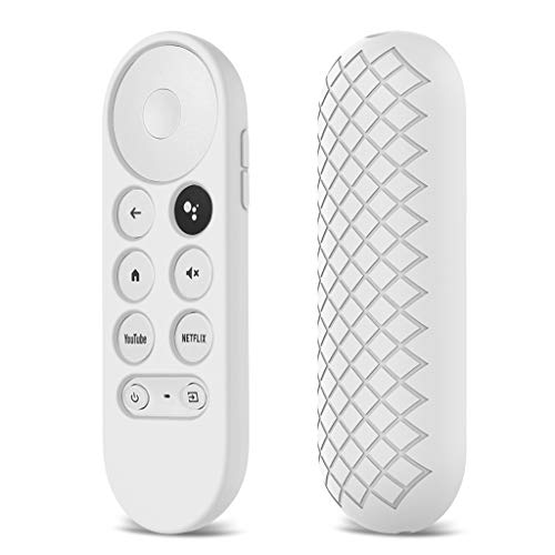 LEXIANG Funda de Silicona Suave Antideslizante para Chromecast Control Remoto Funda Protectora Carcasa para Google Chromecast TV 2020 Control Remoto por Voz