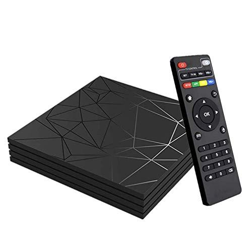 Android 9.0 TV Box, Smart Box Vídeo Reproductor Multimedia 4GB RAM 32GB ROM H6 Quad-Core Cortex-A53 Mali-T720MP2 Soporte 6K H.265 100M LAN Enternet 2.4GHz WiFi, Caja de Televisor con USB 3.0