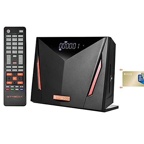 GTMEDIA V8 UHD 4K Decodificador Satelite, Receptor TDT de TV DVB-S / S2 / S2X + T / T2 / Cable, Soporte ATSC-C/ISDBT Ultra/H.265/ Main 10/ PVR Timeshift/Lector de Tarjetas Smart Card/SCART/Wi-Fi