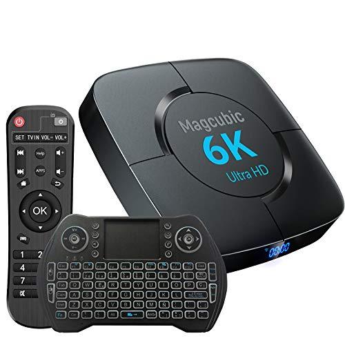 TV Box Android 10 4GB Ram 64GB ROM Support Dual WiFi 2.4G 5G Compatible con 6K 4K Ultra HD H.265 3D Allwinner H616 Quad-Core Bluetooth 4.1 Smart TV Box con Mini Teclado