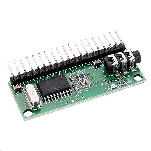 Módulo electrónico 16 canales DTMF MT8870 Junta decodificador de audio de teléfono de voz del controlador de decodificación for Smart Home Automation 5pcs Equipo electrónico de alta precisión