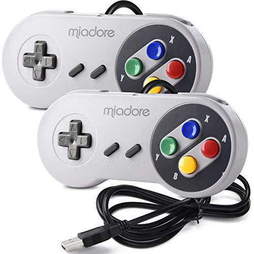 miadore 2X Classic USB Gamepad Retro Controlador USB de Juegos SNES para Windows, PC, Mac y Raspberry Pi System
