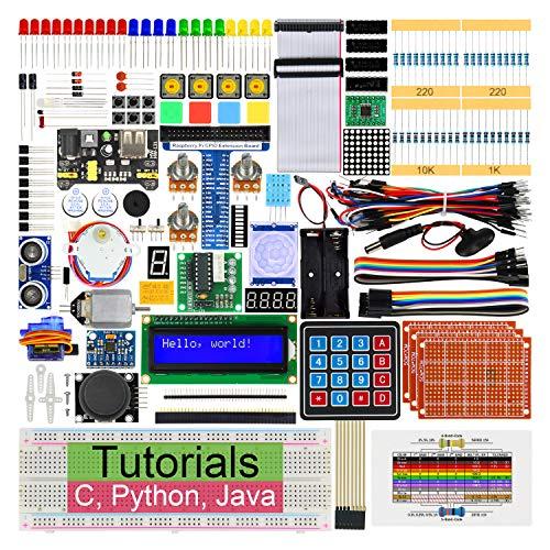 Freenove Ultimate Starter Kit para Raspberry Pi 4 B 3 B+ 400, 434 Páginas de Tutoriales, Python C Java, 223 Elementos, 57 Proyectos, Planche à Pain Sans Soudure